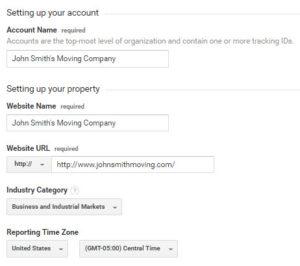 Google Analytics Set Up